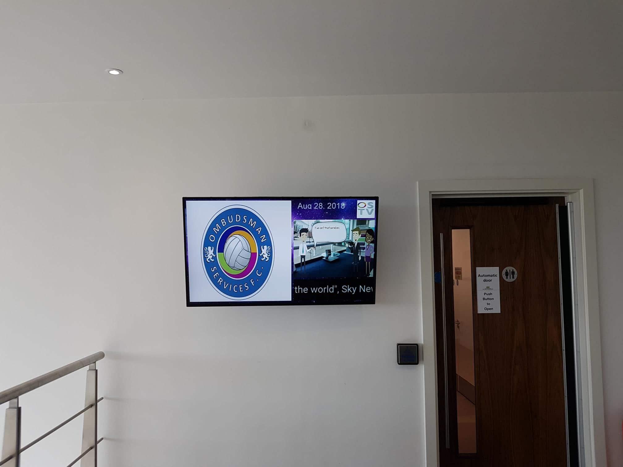 digital signage installation warrington